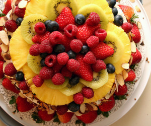 Cake with Fruits in Paint Like A Pro