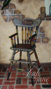 Hand Painted Chair in Painting Old Furniture With Repainting