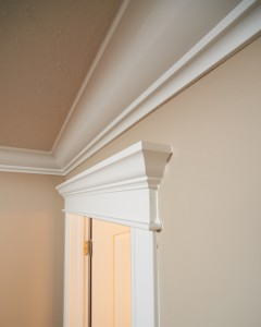 Beautifully finished crown molding in Painting Trim