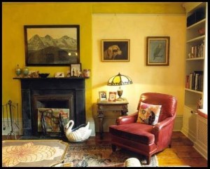 Two-toned Yellow Colored Room in Painting to Brighten Any Room