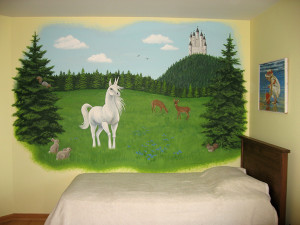 Unicorn Mural in Painting Ideas for Kids