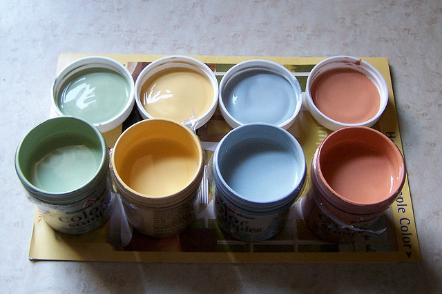Collection of Paint Samples in Painting Ideas for Beginners