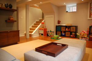 Basement Used as Playroom in Painting Ideas for Your Basement